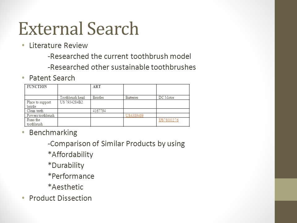 External Search Literature Review