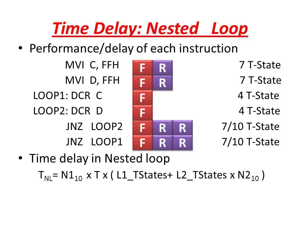 Time Delay: Nested Loop