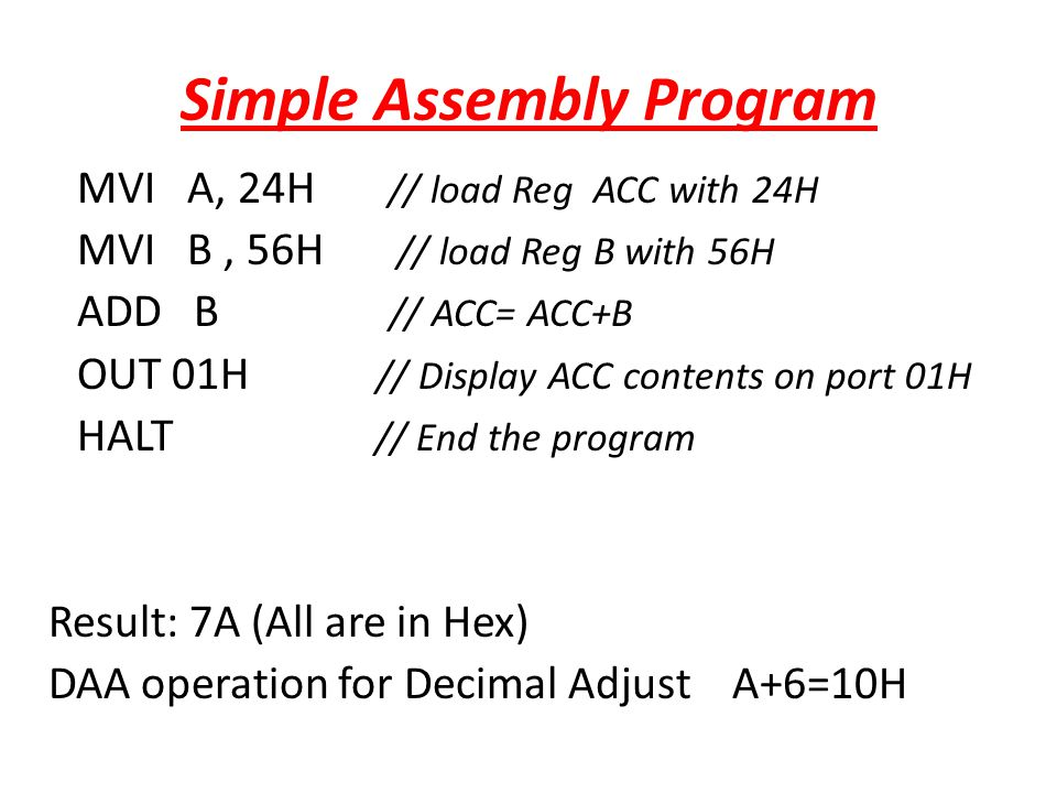 Simple Assembly Program