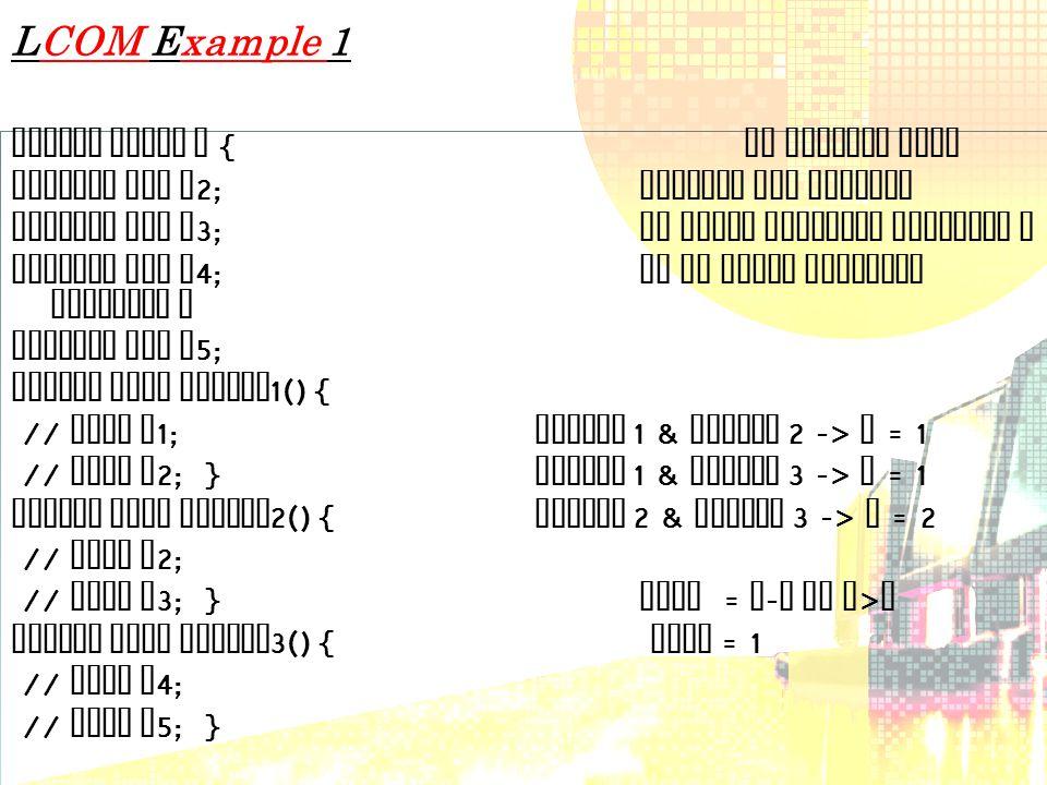 LCOM Example 1