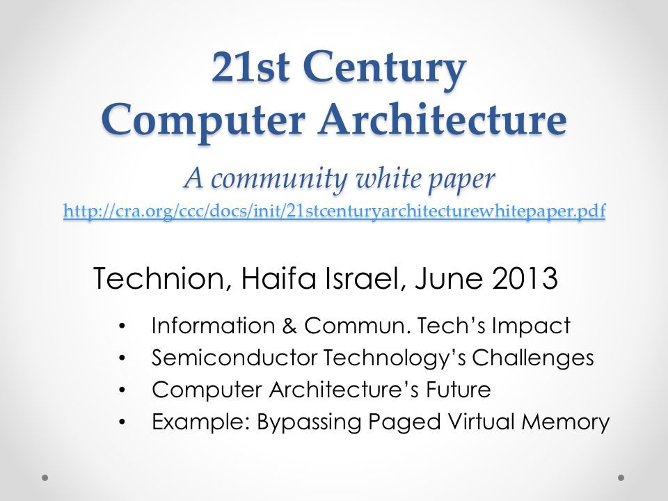 Technion, Haifa Israel, June 2013
