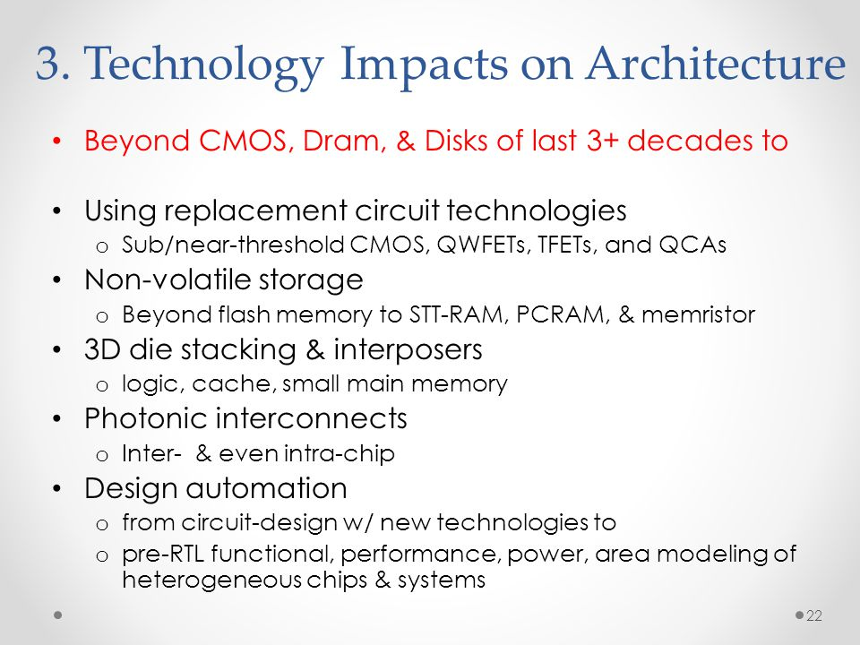 3. Technology Impacts on Architecture