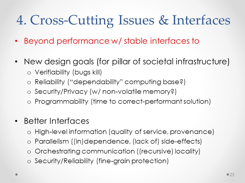 4. Cross-Cutting Issues & Interfaces