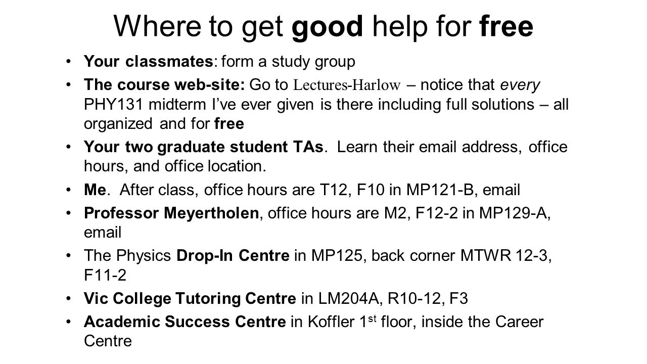 Where to get good help for free