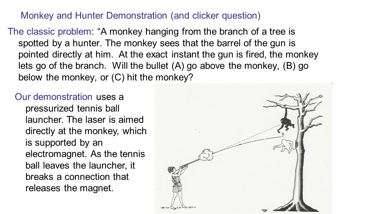 Monkey and Hunter Demonstration (and clicker question)