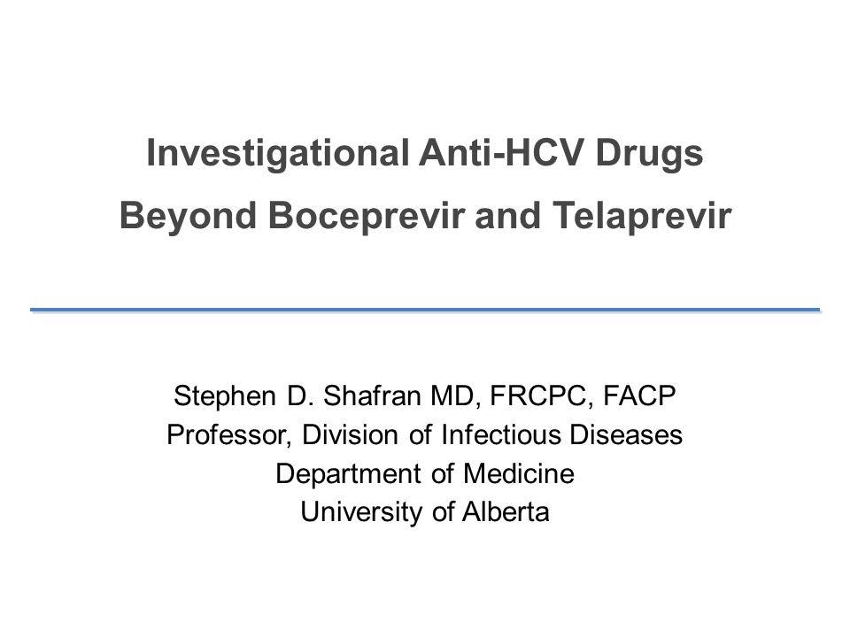 Investigational Anti-HCV Drugs Beyond Boceprevir and Telaprevir