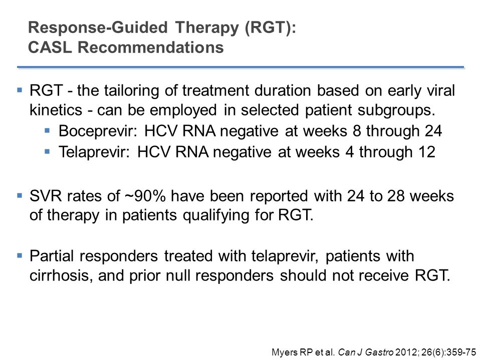 Response-Guided Therapy (RGT): CASL Recommendations