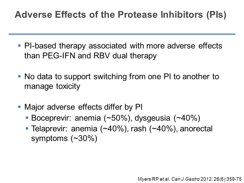 Adverse Effects of the Protease Inhibitors (PIs)