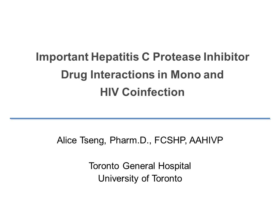 Important Hepatitis C Protease Inhibitor Drug Interactions in Mono and HIV Coinfection