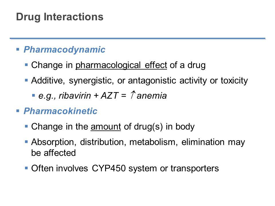 Drug Interactions Pharmacodynamic