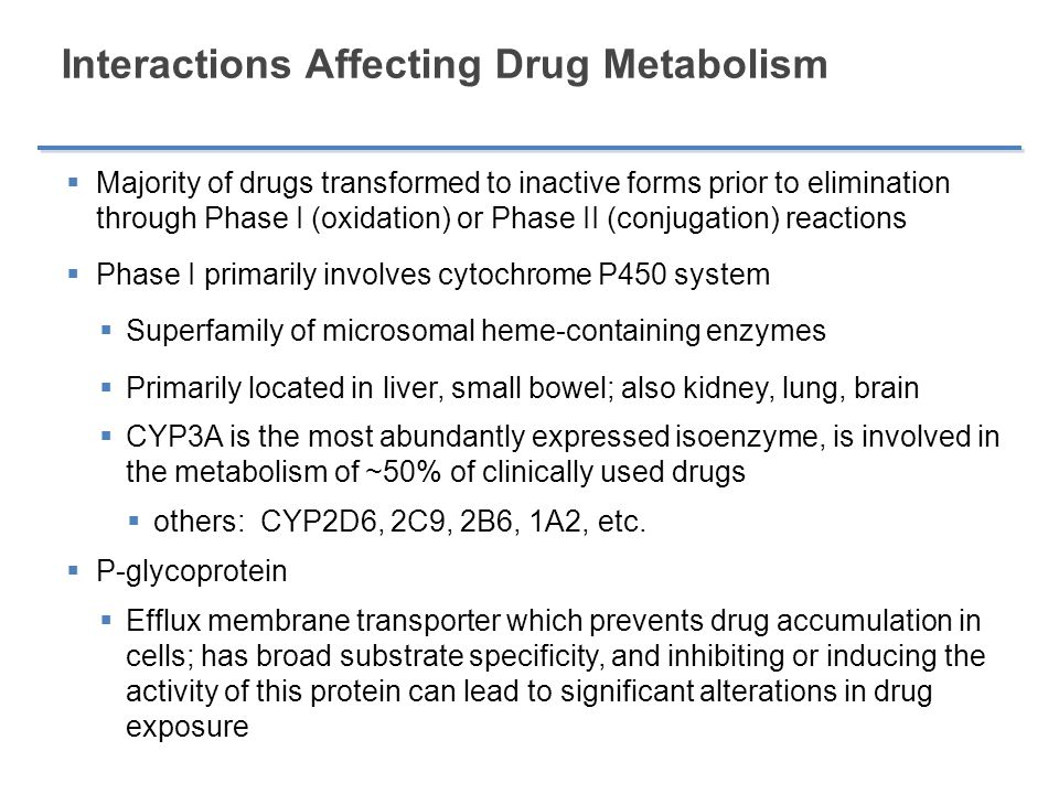Interactions Affecting Drug Metabolism