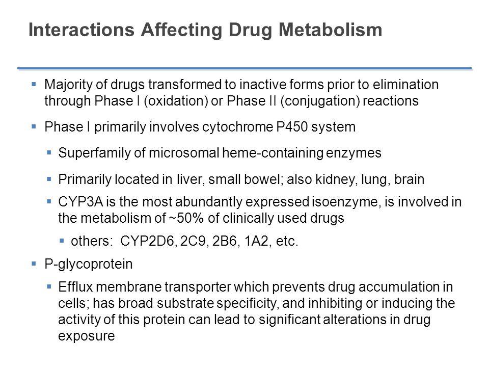Interactions Affecting Drug Metabolism