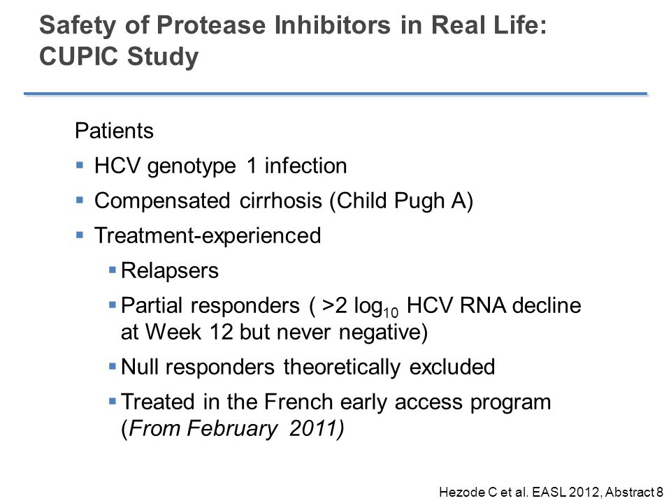 Safety of Protease Inhibitors in Real Life: CUPIC Study