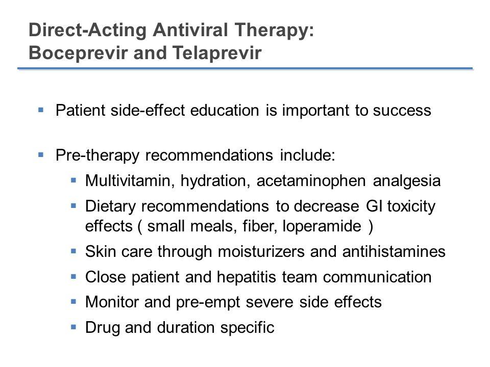 Direct-Acting Antiviral Therapy: Boceprevir and Telaprevir