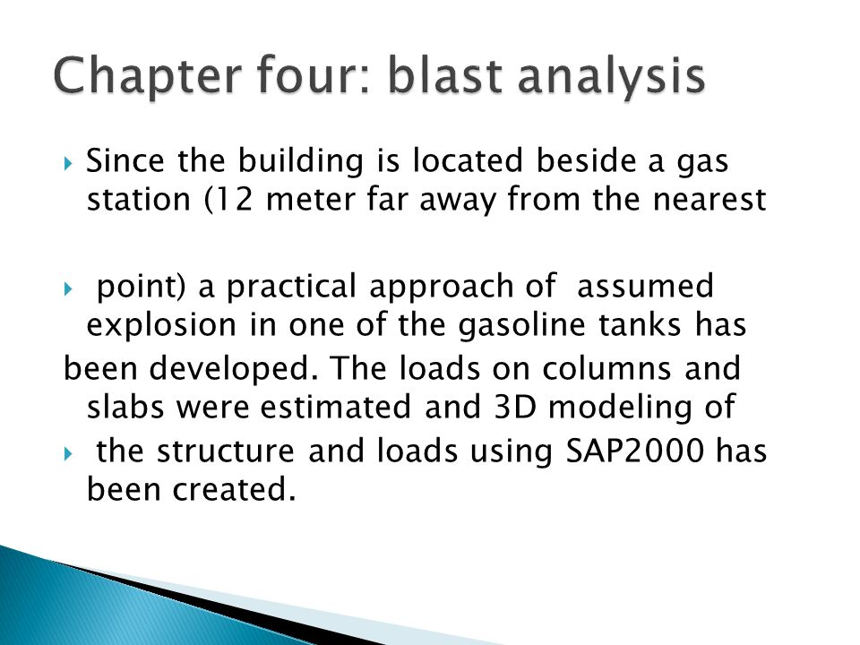 Chapter four: blast analysis