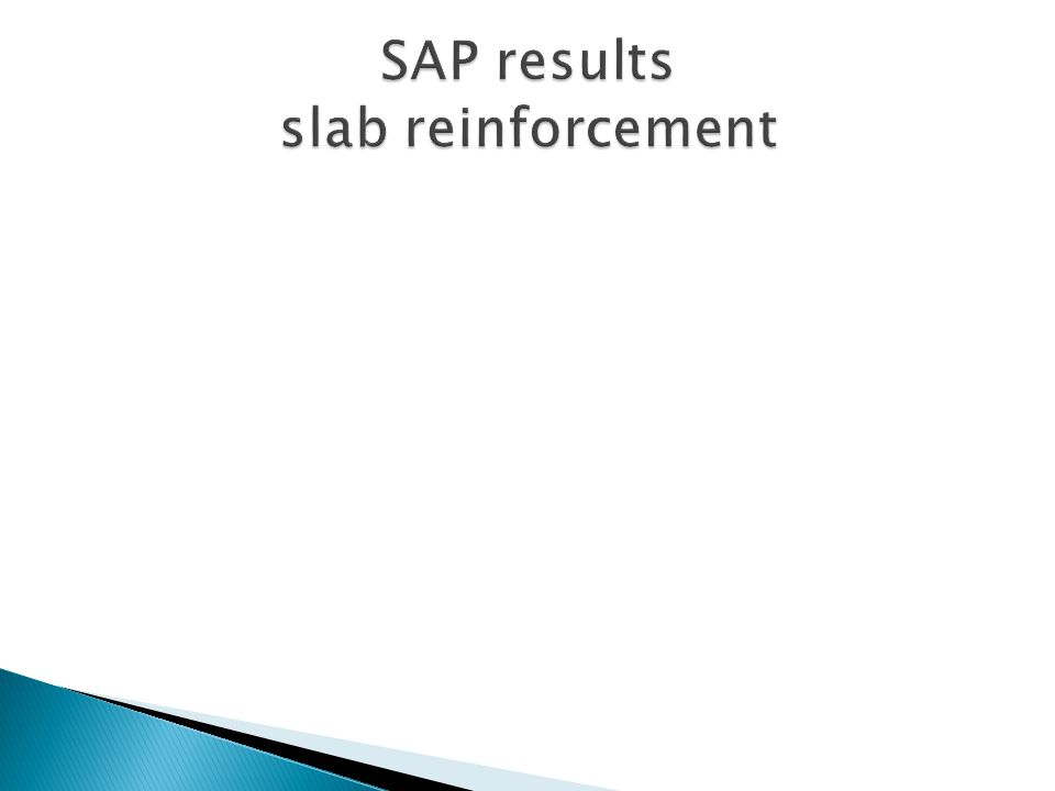 SAP results slab reinforcement
