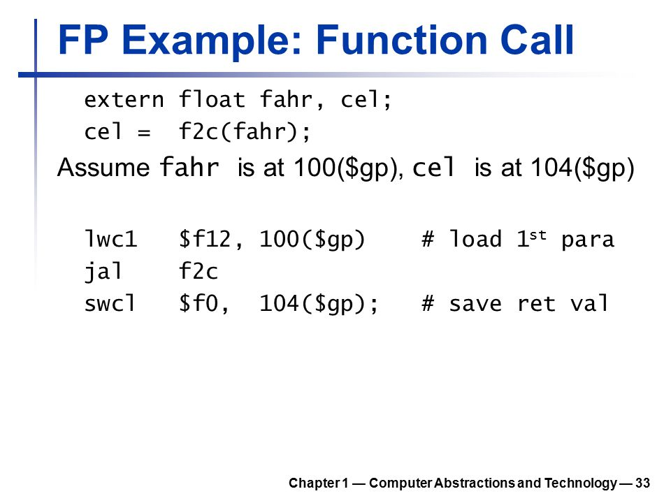 FP Example: Function Call