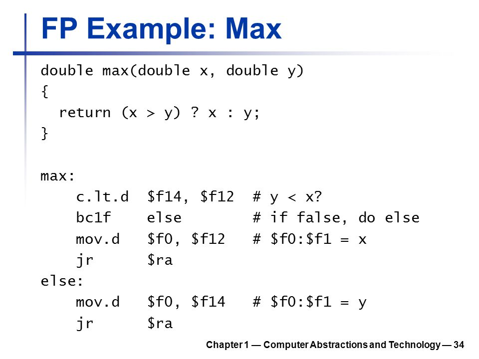 FP Example: Max