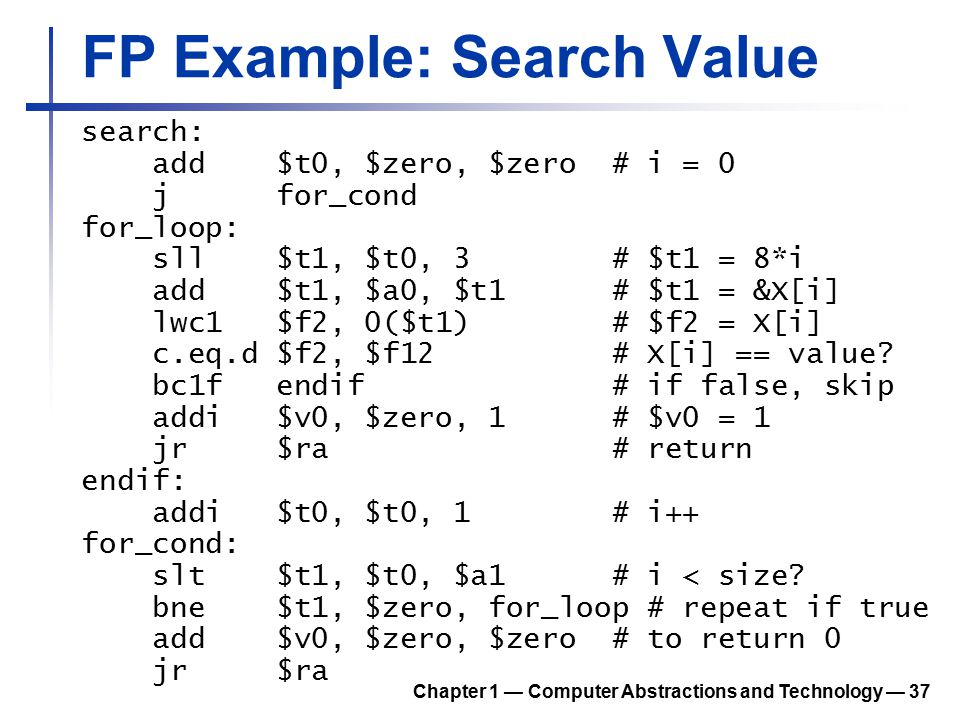 FP Example: Search Value