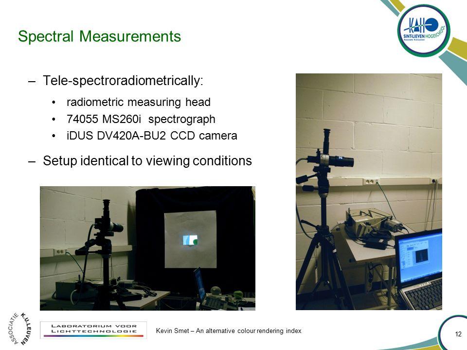 Spectral Measurements