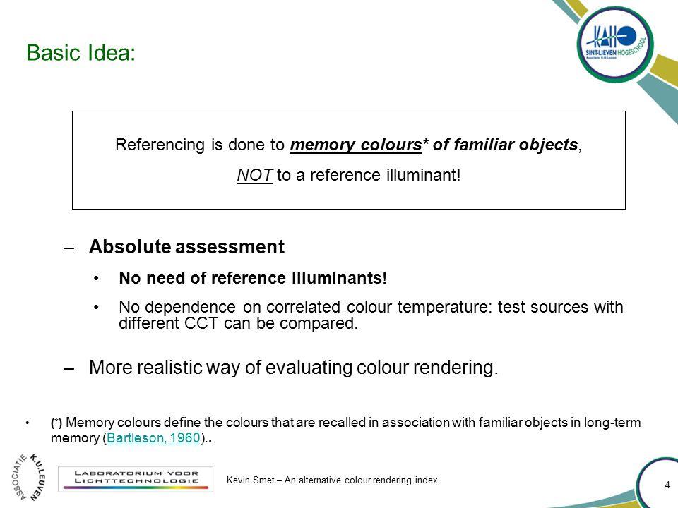 Basic Idea: Absolute assessment