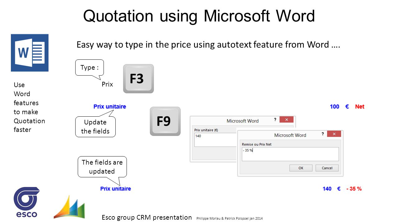 Quotation using Microsoft Word