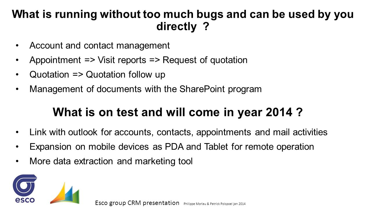 What is on test and will come in year 2014
