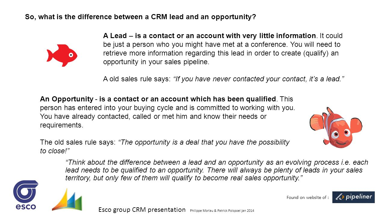 So, what is the difference between a CRM lead and an opportunity
