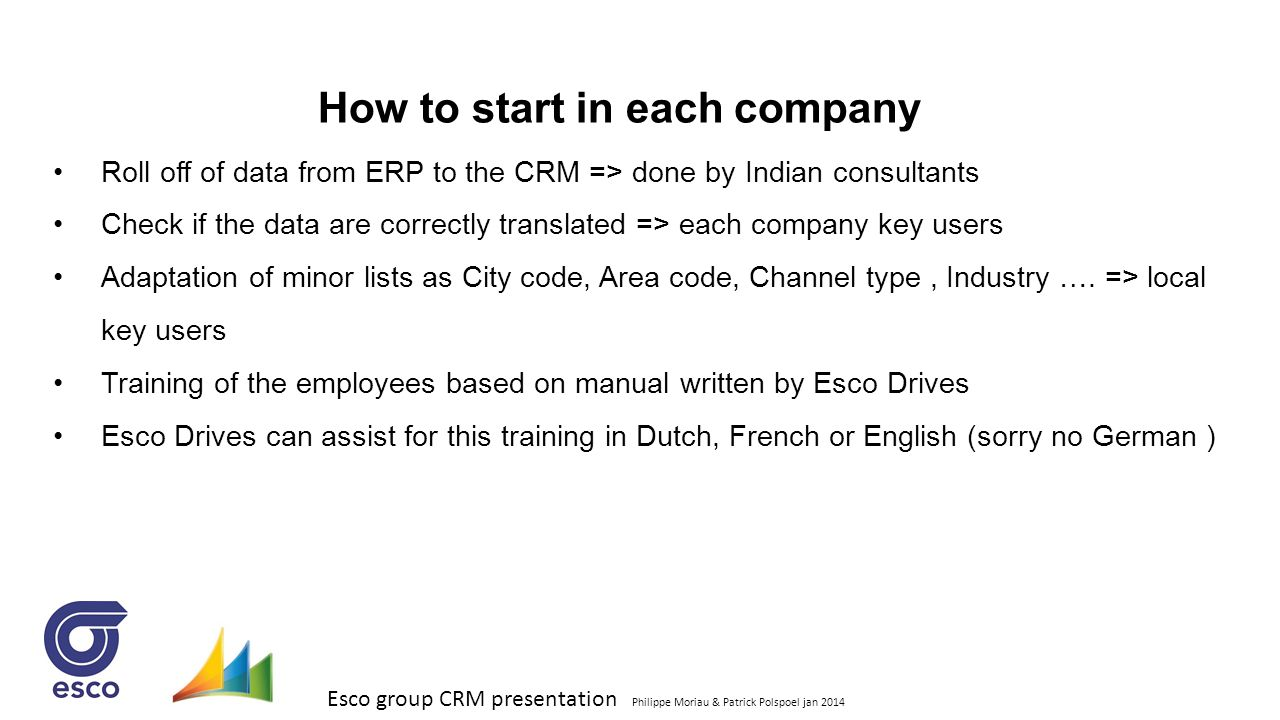 How to start in each company