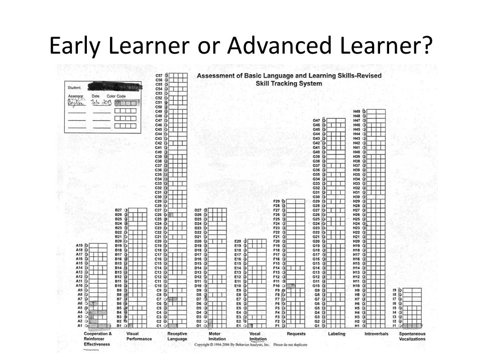 Early Learner or Advanced Learner