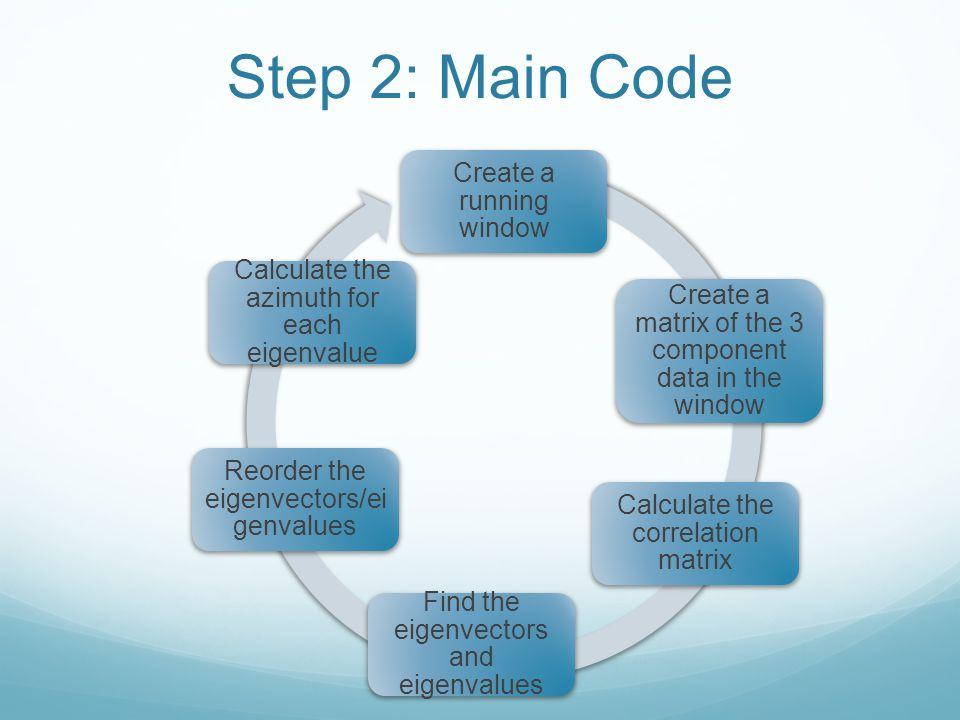 Step 2: Main Code Create a running window