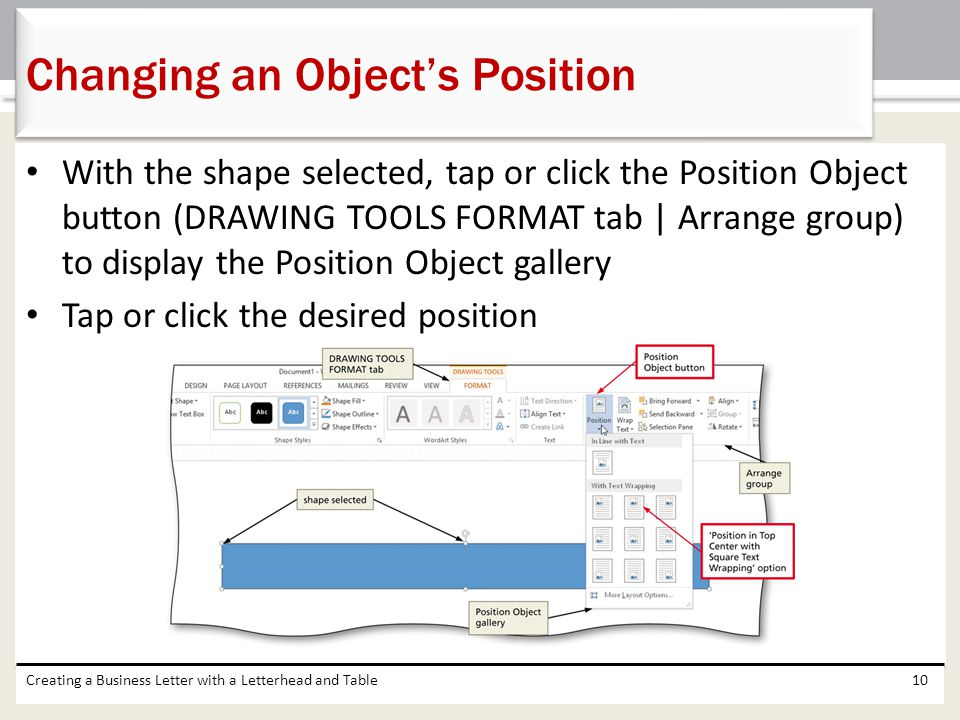 Changing an Object's Position