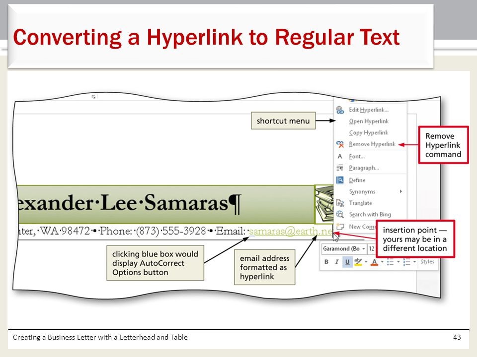 Converting a Hyperlink to Regular Text