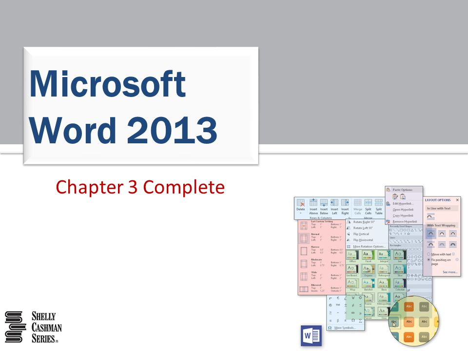 Microsoft Word 2013 Chapter 3 Complete