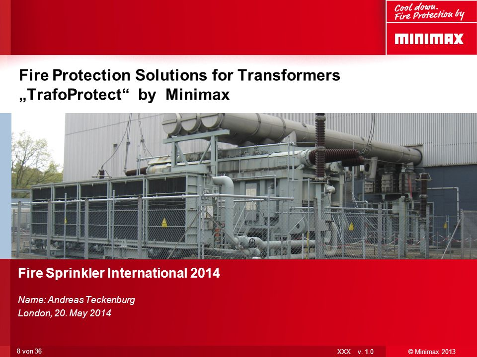 """Fire Protection Solutions for Transformers """"TrafoProtect by Minimax"""