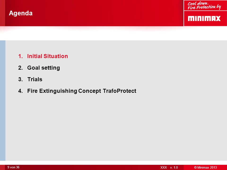 Agenda Initial Situation Goal setting Trials
