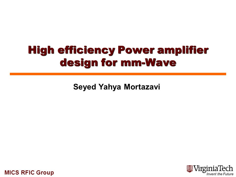 High efficiency Power amplifier design for mm-Wave
