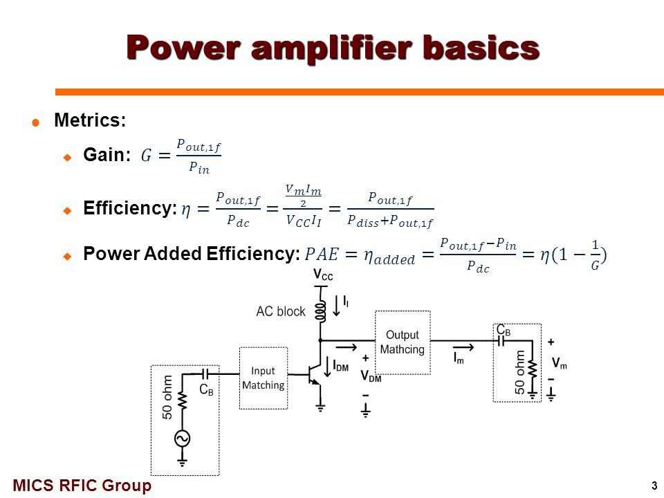 Power amplifier basics