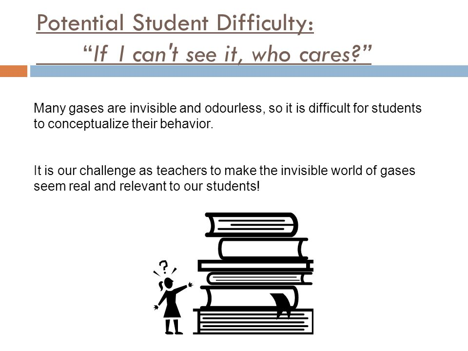 Potential Student Difficulty: If I can t see it, who cares