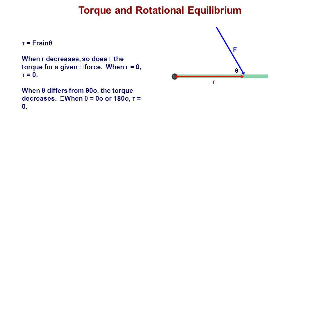 Torque and Rotational Equilibrium