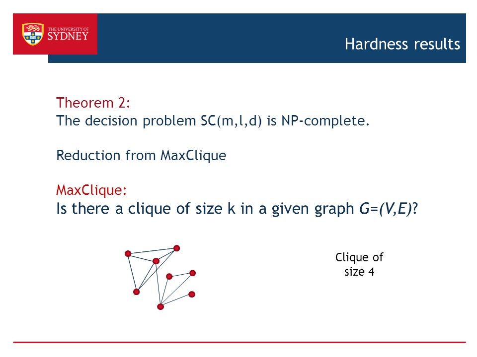Is there a clique of size k in a given graph G=(V,E)