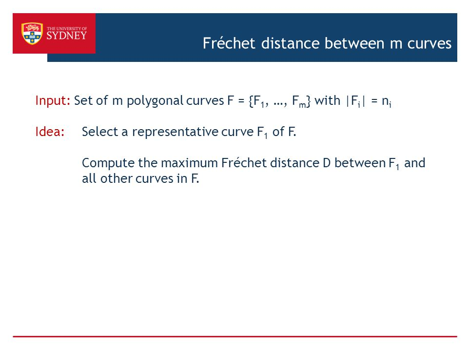 Fréchet distance between m curves