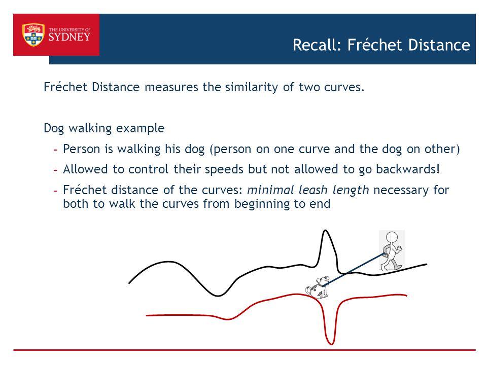 Recall: Fréchet Distance