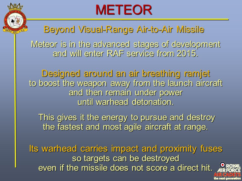 METEOR Beyond Visual-Range Air-to-Air Missile