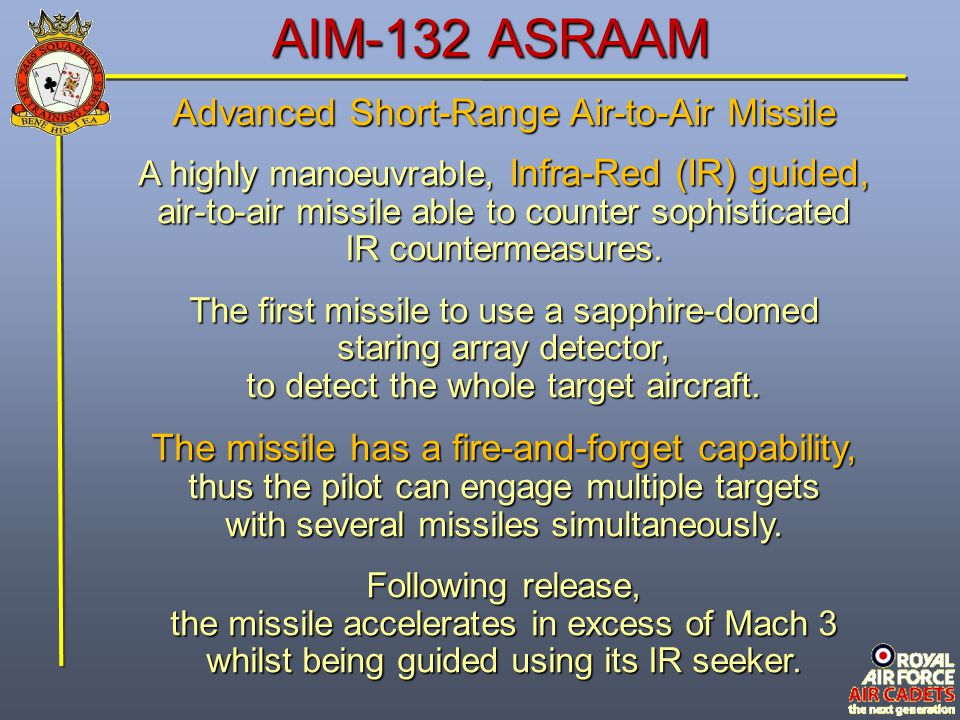 AIM-132 ASRAAM Advanced Short-Range Air-to-Air Missile