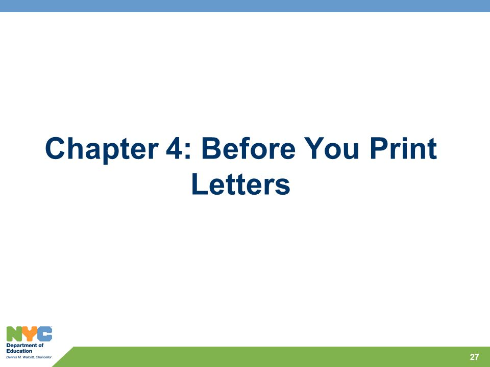 Chapter 4: Before You Print Letters