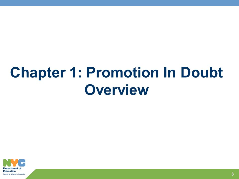 Chapter 1: Promotion In Doubt Overview