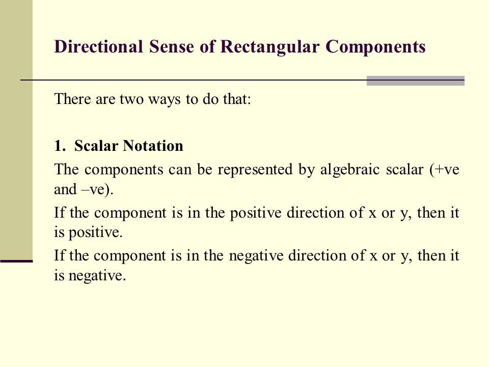 Directional Sense of Rectangular Components