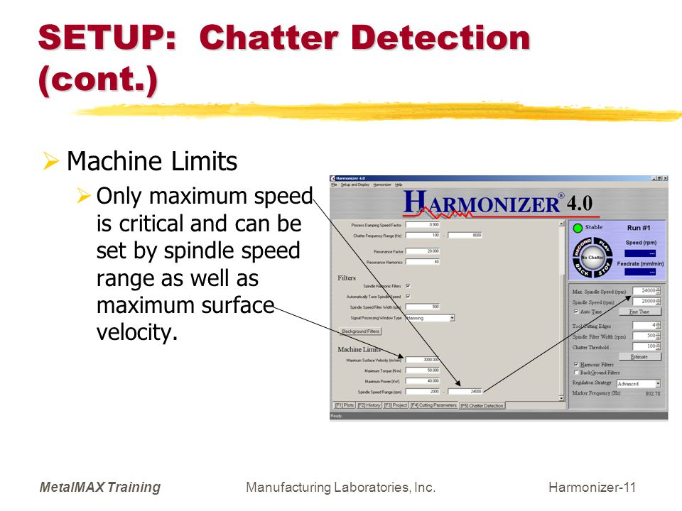 SETUP: Chatter Detection (cont.)