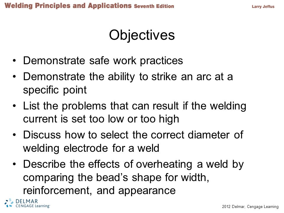 Objectives Demonstrate safe work practices